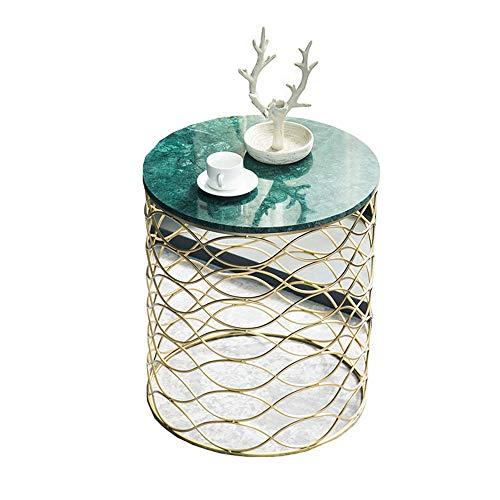 yingkoushixishiquziyuebaihuodian Runder Beistelltisch Metall Marmor Goldener Couchtisch Kaffeetisch Sofa Beistelltisch Kann Für Zu Hause Geschäft Etc Verwendet Werden