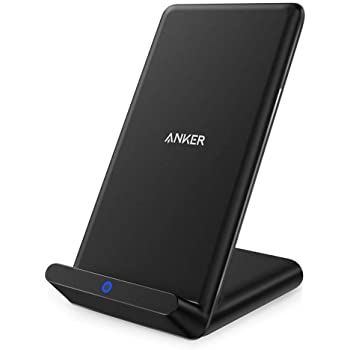 Anker Wireless Charger, PowerPort Wireless 5 Stand, Qi-Certified, Compatible iPhone 11, 11 Pro, 11 Pro Max, XR, XS Max, XS, X, 8, 8 Plus, Samsung Galaxy S20 S10 S9 S8, Note 10 Note 9 (No AC Adapter)