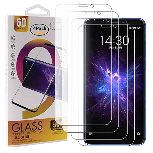 Guran 4 Paquete Cristal Templado Protector de Pantalla para Meizu Note 8 Smartphone 9H Dureza Anti-Ara?azos Alta Definicion Transparente Película