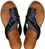 ZHWDZAMM Cómodas Sandalias ortopédicas correctoras de juanetes, cómodas Sandalias de Plataforma para Mujer, Sandalias de Cuero con Punta Abierta, Sandalias Informales de Viaje en la Playa