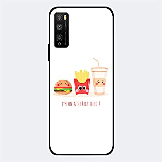 ZOOT Protective Printed Case Cover For Huawei Enjoy 20 Pro I'm On A Strict Diet,Thermoplastic Polyurethane Slim fit Clear ...