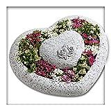 Kieskönig Pflanzschale Pflanzgefäss Herz Garten Blume Grab Rose Grabschmuck