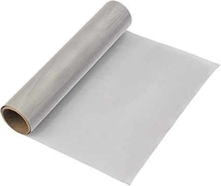 """TIMESETL 304 Stainless Steel Woven Wire 120 Mesh - 12""""X40"""" Filter Screen Sheet Filtration Cloth"""