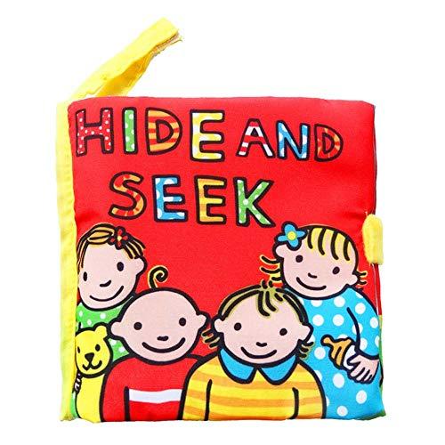 Livre découverte en Tissue Bébé,Imperméable et Résistant à la Déchirure,Livre d'éveil en pour Enfant 0-2 ans