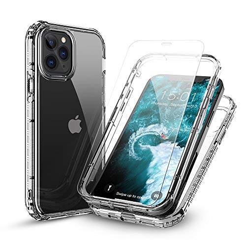 floveme cases for iphone 5s FLOVEME Compatible for iPhone 12 Pro Max Case Clear 5G, with 2 Packs Tempered Glass Compatible for iPhone 12 Pro Max Screen Protector, Shock-Absorbing Anti-Scratch NO Bubble [with Installation Frame]
