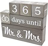 Wedding Countdown Calendar Wooden Blocks - Engagement Gifts - Bride to Be - Bridal Shower Gift -...