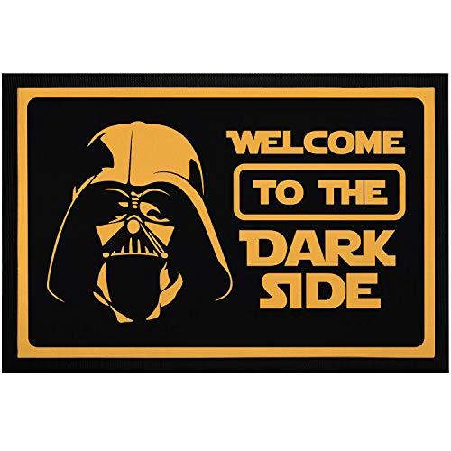 MoonWorks® Fußmatte mit Spruch Welcome to The Dark Side Film-Parodie rutschfest & waschbar schwarz 60x40cm