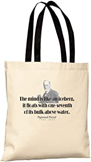 ThinkerShirts Tote Bag - Sigmund Freud Quote - The mind is like an iceberg