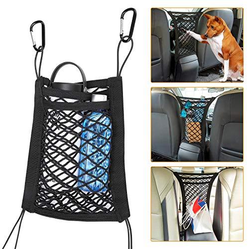 JOYTUTUS Universal Auto Rücksitz Netz, Organizer Schutznetz, Trennetz Auto, Barrier für Hunde, 2 Schicht