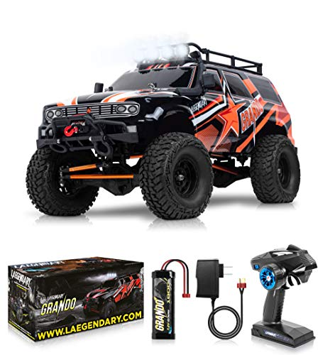 1:10 Scale Large RC Rock Crawler - 4WD Off Road RC Cars - Remote Control Car 4x4 Electric Truck - IPX5 Waterproof Trucks for Adults - RTR with 5Ch Remote, Battery and Charger Included