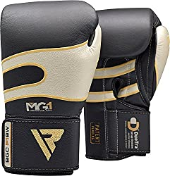 The overview of RDX Boxing Gloves Sparring, Punching Bag Training (Kevlar)