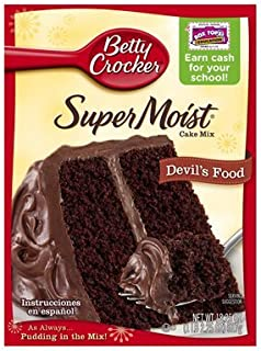 Betty Crocker SuperMoist Devil's Food Cake Mix 15.25 Oz. (2 Pack)