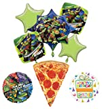 Mayflower Teenage Mutant Ninja Turtles Birthday Party Supplies TMNT Pizza Balloon Bouquet Decorations