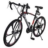 Aluminum Full Suspension Road Bike 21 Speed Disc Brakes, Rider Bike Faster and Lighter Commuter...
