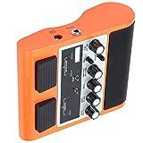 Allsor para Amplificador de Guitarra Bluetooth, Amplificador de Guitarra Recargable para(Orange, European regulations)