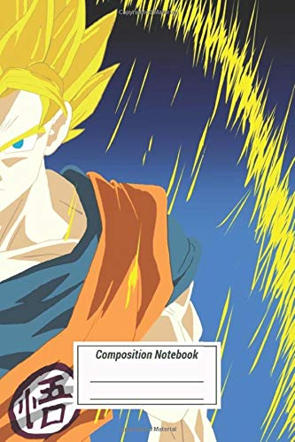 Composition Notebook: Son Goku Ssj Lvl 2 Colour Variation Fanart Based On T Over 100 Pages for Writing