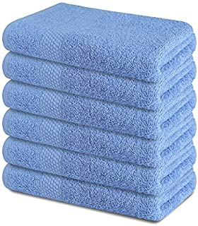 Zuperia Bath Towels 24 x 48 inches, Set of 6 - Ultra Soft 100% Combed Cotton Large Bath Towel, Highly Absorbent Daily Usag...