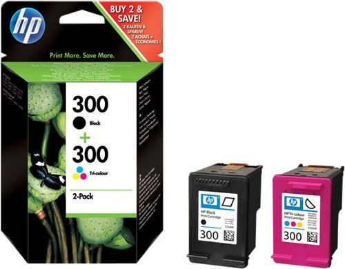HP Multipack nero CN637EE 300 2 cartucce d' inchiostro HP 300: CC640EE + CC643EE