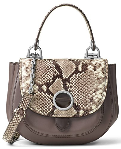 "Leather, Silver-Tone Hardware; Self-Color Stitch Trim Adjustable Crossbody Strap with 22.5"" Drop Exterior: 1 Front Pocket Under Flap; 1 Back Slip Pocket Interior: 1 Back Zip Pocket, 1 Front Slip Pocket, Snap Closure 6'' (H) x 7.5' (W) x 3"" (D)"