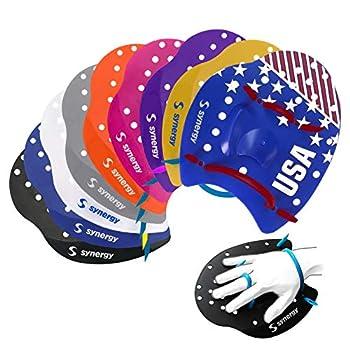 Synergy Hand Paddles for Swim Training  Clear Medium