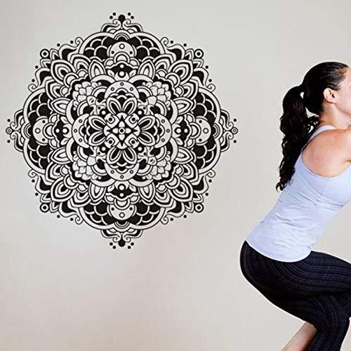 Rhpnyi Yoga Etiqueta de la Pared calcomanía Cartel de Fitness Vinilo Pared calcomanía decoración del hogar Mural Decorativo Etiqueta de Yoga 80x80 cm