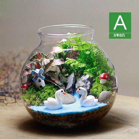 Paysage de micro mousse plantes en pot et cadeau créatif Hayao Miyazaki Chinchilla série de petits décoration en verre vert