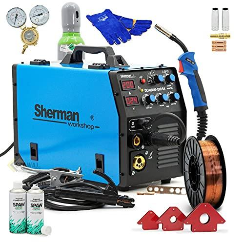 Sherman DUALMIG 210 S4 MIG/MAG Soldadora Inverter Soldadora Inverter 200 Amp Máquina de Soldadura Sin Gas