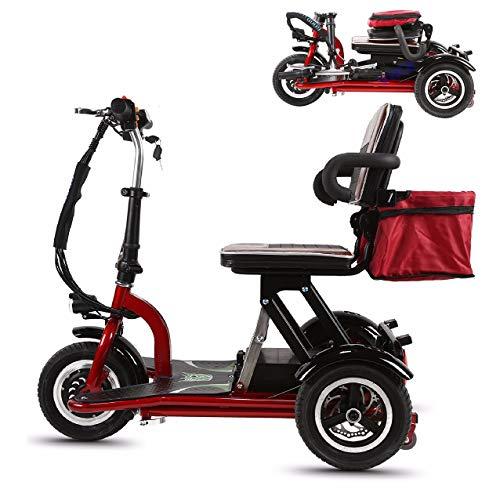 Qfzfei Scooter Minusvalido Electrico, Scooter Electrico Discapacitados, Batería Extraíble, Motor De 300 W, 20 KM/H, Reversible, Apto para Ancianos, Discapacitados Y Personas con Movilidad Reducida 4