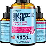 Lactation Supplement Breastfeeding Support Liquid - Breast Milk Supply Increase for Mothers, Organic Drops of Fenugreek Blessed Thistle, 100% Natural 2X Absorption No Alcohol or Sugar