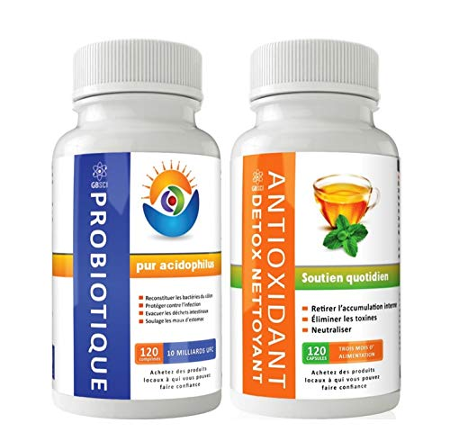 GBSci probiotiques et antioxydants Detox Combo |...