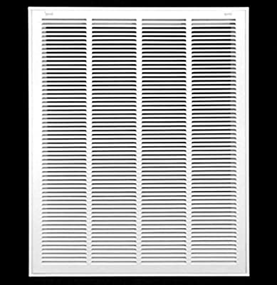 """20"""" X 30"""" Steel Return Air Filter Grille for 1"""" Filter - Removable Face/Door - HVAC Duct Cover - Flat Stamped Face -White [Outer Dimensions: 21.75w X 31.75h]"""