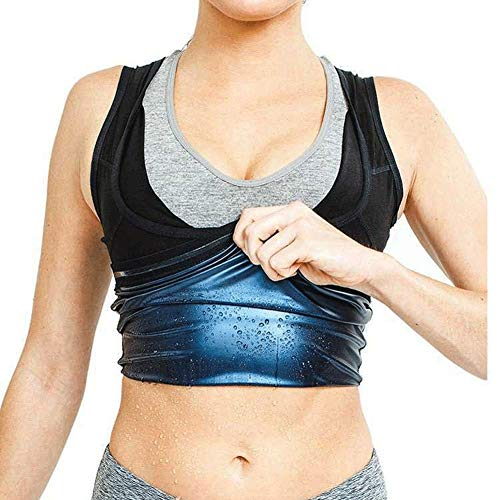 Faja Reductora Mujer Camisetas Sauna Adelgazantes para Mujer Chaleco de Spandex Hombre Corset para Sudoración,Chaleco Moldeador de Peso Quema Grasa,Faja Abdomen ( Color : Women's , Size : S/M )