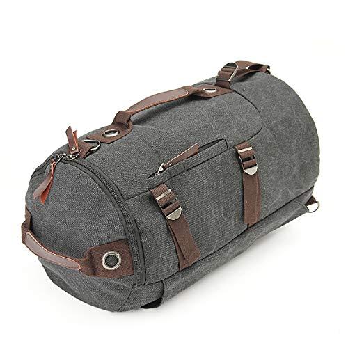 Vohoney Sporttasche Herren Damen Sportbag Sport-Taschen Rucksack Canvas Travel Bag Weekender Gym Sport Tasche(Sporttasche für Grau)