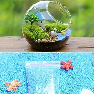 Miniature Garden Decor - Best Art Décor for Plant Outdoor Indoor 1Bag Blue Sand for Miniatures Fairy Moss Terrarium Decor ...