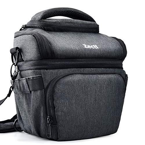 Professioneller Kameratasche, Zecti Fototasche SLR-Schultertasche für Nikon Canon Sony und DSLR Kameras und Objektiv, Weiteres Zubehör, wasserdichte für Nikon Canon Sony Fuji Olympus (Schwarz)