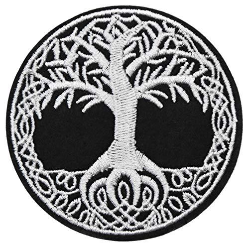 ecusson PVC 3D Arbre de Vie Bouclier Chance Sante celte Breton celte Celtique Viking Rune 6cm