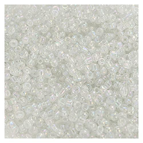 YINCHIE Piedras preciosas sueltas 1000pcs 2-3mm Charm Checo Semilla de Cristal Diy Pulsera Mini Colorido Irregular Perlas Para Hacer Joyería Collar Pendiente AN817 (Color: Blanco)