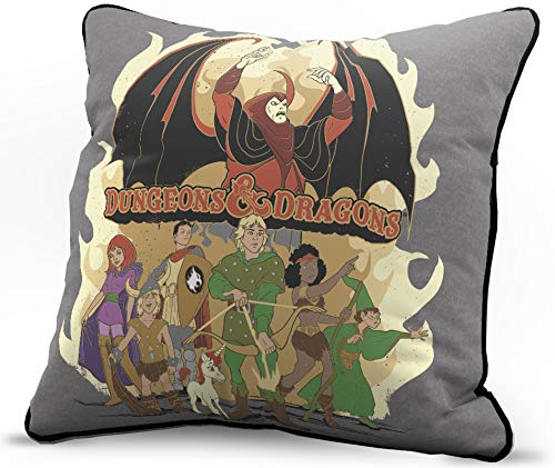Jay Franco Dungeons & Dragons Party VS Necromancer Decorative Pillow Cover - Throw Pillow Cover - Super Soft Bedding (Official Dungeons & Dragons Product)