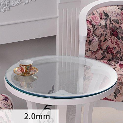 Nappe Ronde En Verre Souple PVC Nappe Ronde Étanche Transparent Nappe Ronde Nappe Nappe Plaque De Cristal ( taille : 90*90cm )