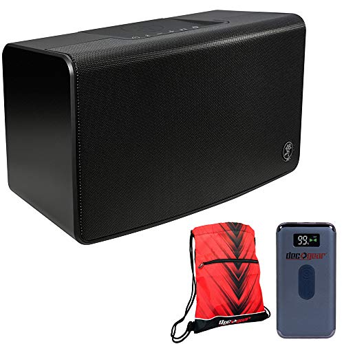 Mackie FreePlay Home Portable Bluetooth Speaker - (FreePlay Home) Bundle with Deco Gear Power Bank 8000 mAh Digital Display with Wireless Device Charging and Deco Essentials Drawstring Bag