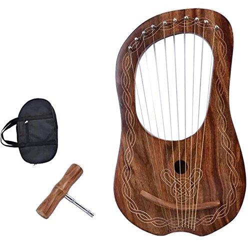 Kleine Leierharfe, 10 Saiten, stimmbar, hochwertige Qualität, schöner Klang/Leier, Harfe, Palisander