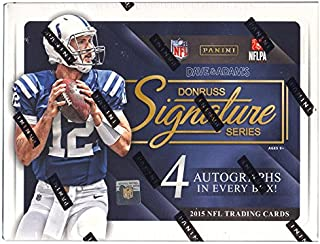 2015 Donruss Signature Series Football Hobby Box (1 Pack of 4 Autographs) (Release Date 12/16/15)