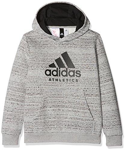 adidas Jungen Sport Id Trainingskapuzenpullover Pullover, Mgreyh/Black, 128
