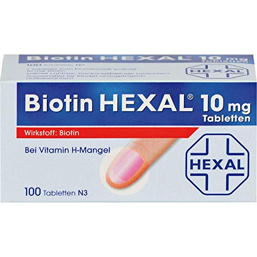 Biotin HEXAL 10 mg Tabletten bei Vitamin H-Mangel, 100 St. Tabletten