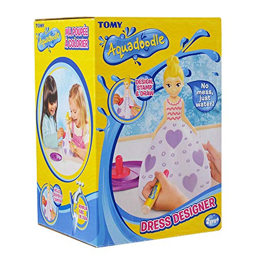 AQUADOODLE E72734 Dress Designer, 3D and Mess Free Colouring Kids Toys, Educational Play Pens for Toddlers and Children to Draw and Doodle, Suitable for Girls and Boys Aged 18 Months+, Multicolour