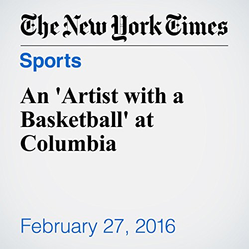 An 'Artist with a Basketball' at Columbia audiobook cover art