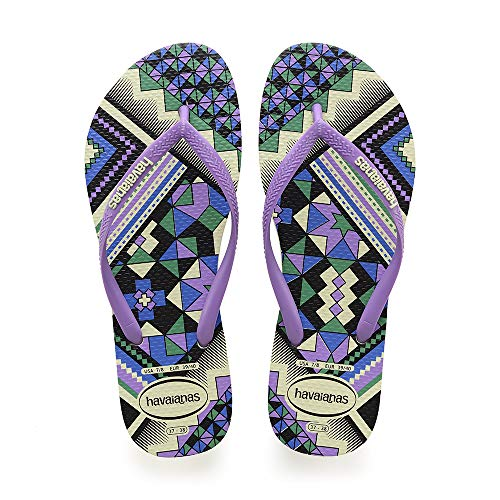Havaianas Damen Slim Tribal Zehentrenner, Mehrfarbig (Apple Green 2532), 39/40 EU