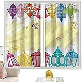 cortinas térmicas, marco colorido W42 x L63 pulgadas cutainsforlivingroom