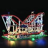 LIGHTAILING Conjunto de Luces (Creator Expert Montaña Rusa) Modelo de Construcción de Bloques - Kit de luz LED Compatible con Lego 10261(NO Incluido en el Modelo)