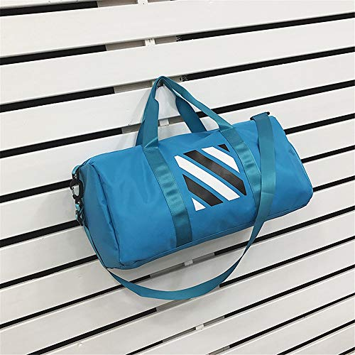 XuZeLii Sport Gym Bag Short-distance Travel Package Shoulder Bag Duffel Bag Man And Woman Sports Bag Suitable for Work Travel (Color : Blue, Size : 50 x 23 x 26cm)